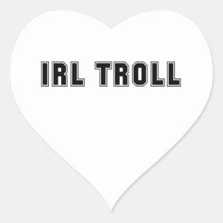 En el Internet Meme del duende de IRL de la vida Pegatina En Forma De Corazón