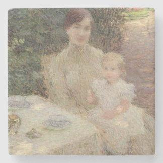 En el jardín, 1904 posavasos de piedra