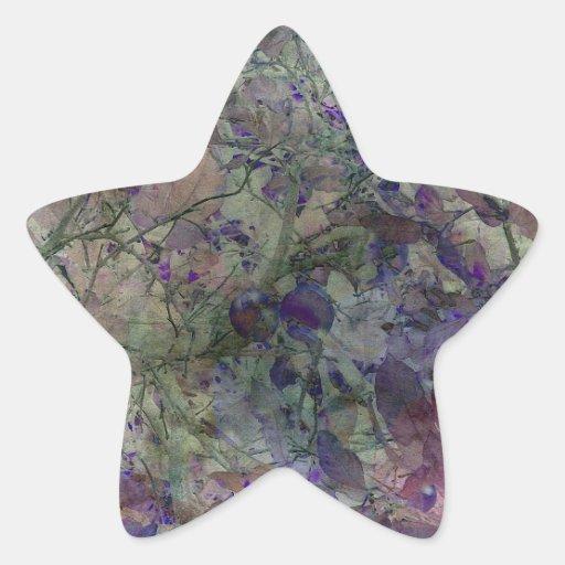 En el jardín adonde van los Faeries Calcomania Forma De Estrella Personalizadas