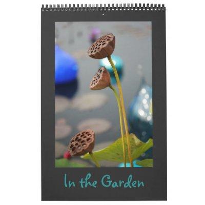 En el jardín calendario de 12 meses