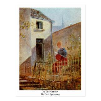 En el jardín de Carl Spitzweg Postales