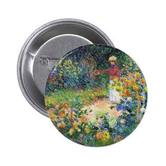 En el jardín de Claude Monet Pin Redondo De 2 Pulgadas
