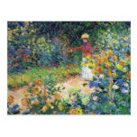En el jardín de Claude Monet Postal