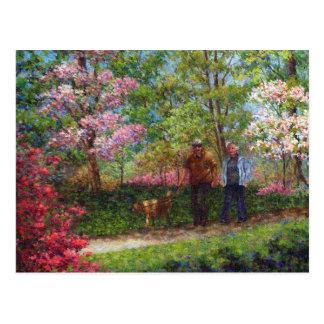 En el jardín de la azalea tarjeta postal