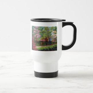 En el jardín de la azalea tazas de café