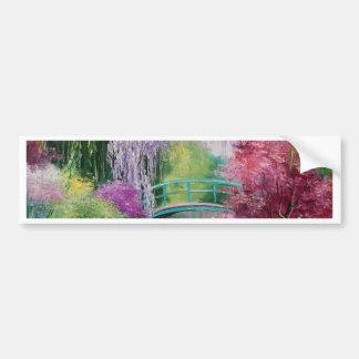 en el jardín de Monet Pegatina Para Auto