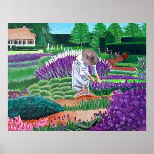 En el jardín del poster del arte del jardín de la