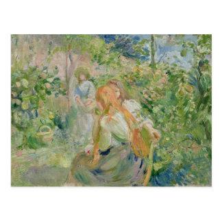 En el jardín en la Roche-Placa, 1894 Tarjetas Postales