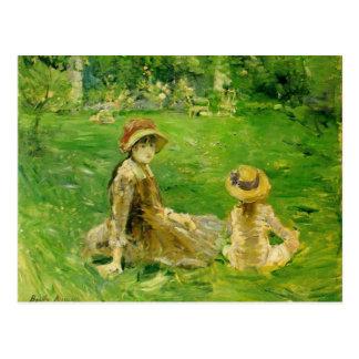 En el jardín en Maurecourt Berthe Morisot Postal