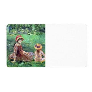 En el jardín en Maurecourt de Berthe Morisot Etiqueta De Envío