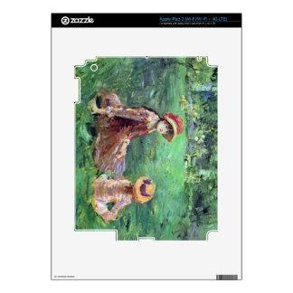En el jardín en Maurecourt de Berthe Morisot Pegatina Skin Para iPad 3