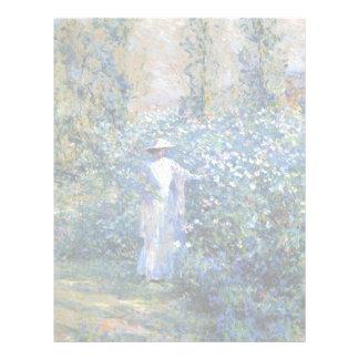 En el jardín plantillas de membrete
