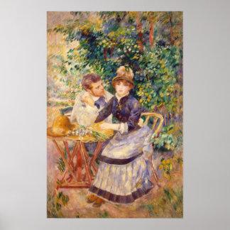 En el jardín, por Pierre-Auguste Renoir Póster