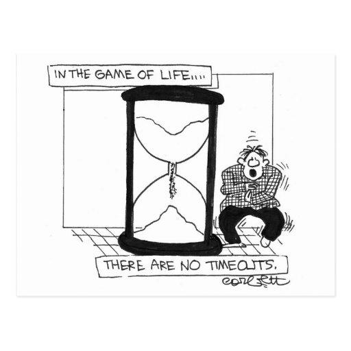 ¡En el juego de la vida… no hay descansos! Tarjeta Postal