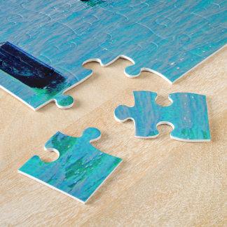 En el lago en tonalidades Azul-Verdosas Rompecabezas