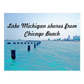 En el lago en tonalidades Azul-Verdosas Postales