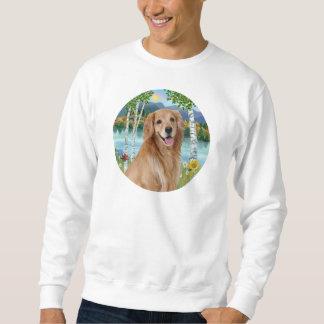 En el lago - golden retriever suéter