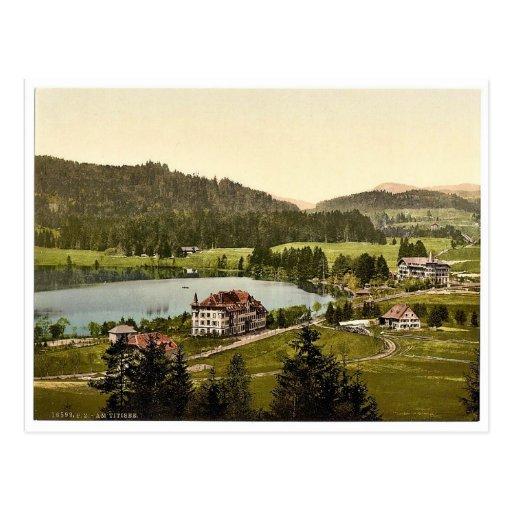 En el lago, Titisee, bosque negro, Baden, Alemania Postales