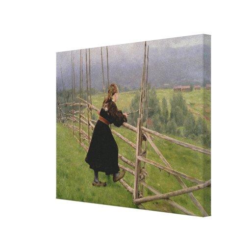 En el llano lienzo envuelto para galerías