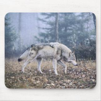 En el lobo de madera del vagabundeo tapete de ratón