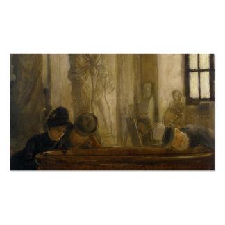 En el Louvre de James Tissot Plantillas De Tarjetas Personales
