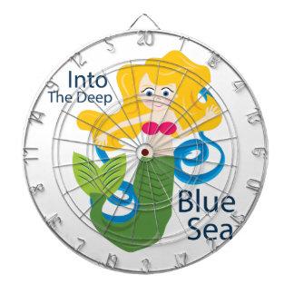 En el mar azul profundo tabla dardos