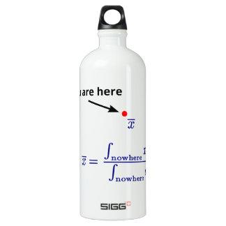 En el medio de en ninguna parte botella de agua