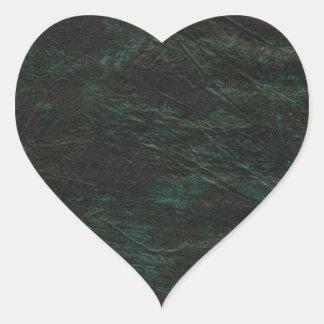 En el medio pegatina en forma de corazón
