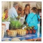 En el mercado del granjero azulejo