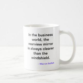 En el mundo del negocio el espejo retrovisor es… tazas