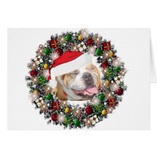 En el navidad - dogo tarjeta pequeña