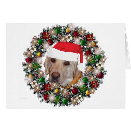 En el navidad - labrador retriever felicitacion