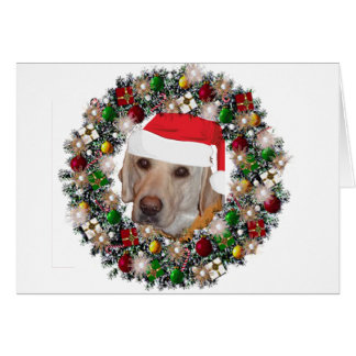 En el navidad - labrador retriever tarjeta pequeña