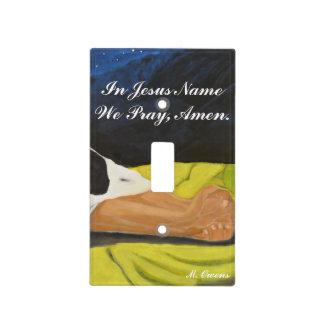 En el nombre de Jesús rogamos, Amen cubierta de Placa Para Interruptor