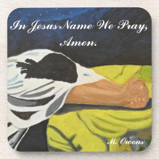 En el nombre de Jesús rogamos, Amen los prácticos Posavasos De Bebidas