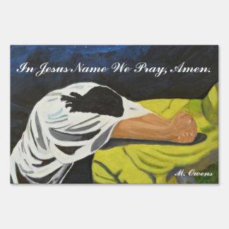 En el nombre de Jesús rogamos, Amen. Muestra de la Señal