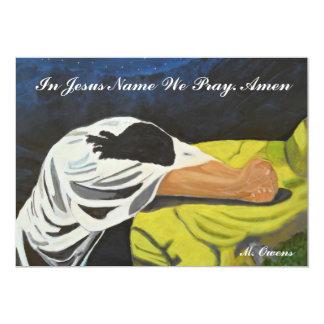 """En el nombre de Jesús rogamos invitaciones Invitación 5"""" X 7"""""""