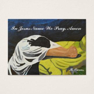 En el nombre de Jesús rogamos las tarjetas de Tarjetas De Visita Grandes