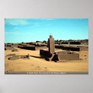 En el oasis de Salah, el más caliente del Sáhara,  Posters