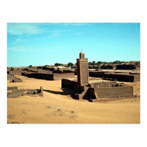 En el oasis de Salah, el más caliente del Sáhara,  Tarjeta Postal