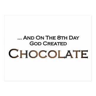 En el octavo día dios creó el chocolate tarjetas postales