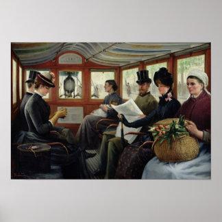 En el Omnibus, 1880 Póster