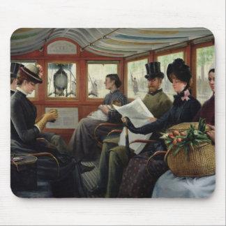 En el Omnibus, 1880 Alfombrillas De Raton