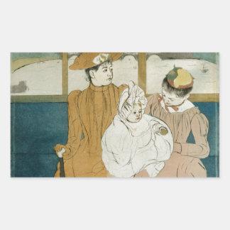 En el Omnibus de Mary Cassatt Rectangular Altavoces