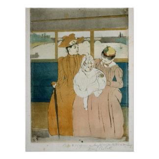En el Omnibus de Mary Cassatt Perfect Poster