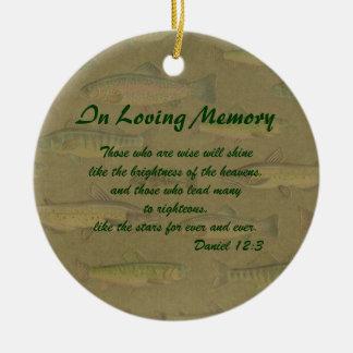 En el ornamento cariñoso del monumento de los ornamentos de navidad