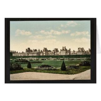 En el parque, palacio de Fontainebleau, vintage de Tarjeton