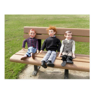 En el parque tarjeta postal
