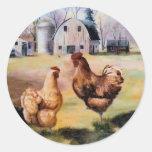 En el pegatina de la granja