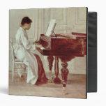 En el piano, 1887 (aceite en lona)